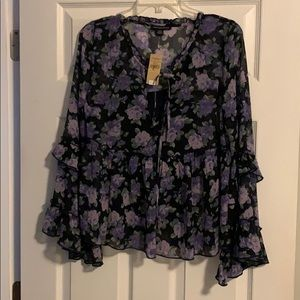 Flowered top/ size m